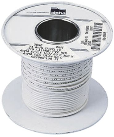 3053 WH001 Price by Alpha Wire distributors - Single Conductor ...